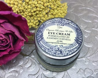 Eye Cream - Brightening & Age-Defying - Diminishes Wrinkles, Dark Circles - With Eyebright, Rose Essential Oil, Almond Oil, Cocoa Butter