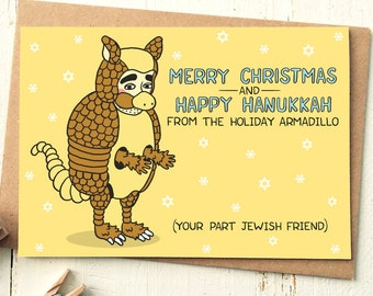 Holiday Armadillo - Friends TV Show - Friends TV Card - Armadillo - Funny Holiday Card - Funny Friend Card - Funny Christmas Cards