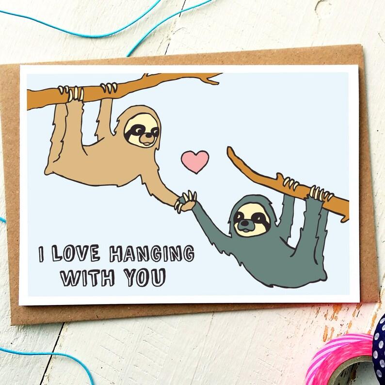 Funny Boyfriend Card  Love Card  Anniversary Card  Husband image 0