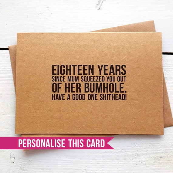 Funny Birthday Card Personalised Cards Brother Birthday Etsy