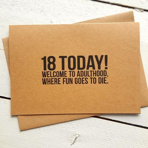 18th Birthday Card Funny Birthday Card Card For Friend Etsy