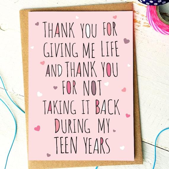 Mothers Day Card Mum Birthday Card Mum Card Mom Card Etsy