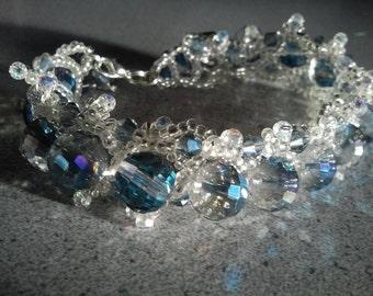 Winter Bliss, crystal bracelet