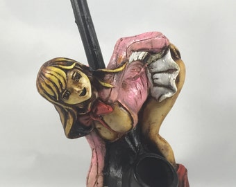 Tobacco Hand Made Pipe, Anime Girl Design.