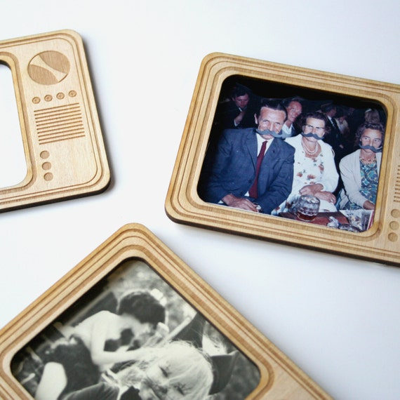 Magnetic Picture Frames Retro Television Fridge Magnet Etsy