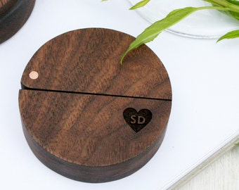 Wedding Ring Box - Engagement Ring Box - Personalised ring box - Ring Holder - proposal ring box - wooden box with lid - Valentine's Gift -