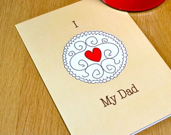 Jammy Dodger Fathers Day Card - Funny Fathers Day Card - Card for dad - pun fathers day card - Biscuit fathers day card - Jammy Dodger