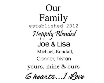 Blended family quote | Etsy