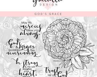 God's Grace Digital Stamp Set