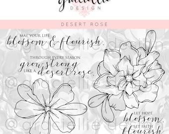 Desert Rose - Digital Stamps