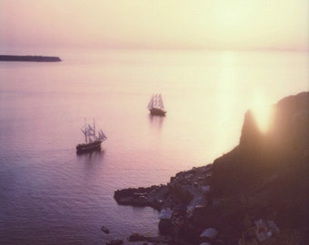 Ammoudi Bay | Santorini, Greece Polaroid Print | Fine Art Photography