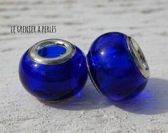 Cobalt Blue 12 x 9 mm big hole beads