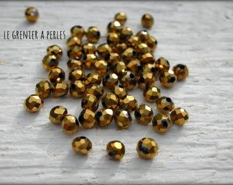 3 mm Light Abacus beads Bronze X 50