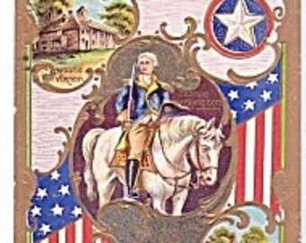 Early 1900s Embossed President George Washington Postcard- Presedential Patriotic Post Card