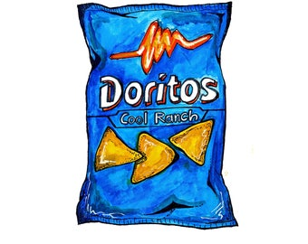 Cool Ranch Doritos Print