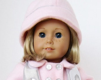 American Girl Doll: Soft Pink Long Coat