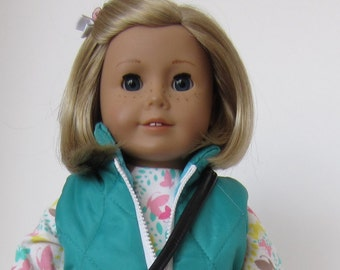 American Girl Doll: Aqua Roller Blades Outfit
