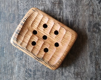Soap Dish Hand Carved from Irish Whiskey Barrels-Sustainable, Wooden Gift, Housewarming, Gift for Him/Her,Bath,Soap