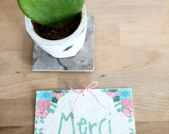 seeded paper thank you card