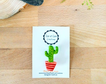 porcelain cold cactus - pattern-classic model summer brooch
