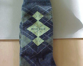 b95cafddc4efc7 New Old Stock Deadstock Vtg Hugo Boss Argyle Socks for Him on Etsy College  Jock Men vintage NOS 1999