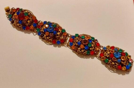 1940s Filagree bracelet