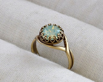 Chrysolite opal ring 885be2612
