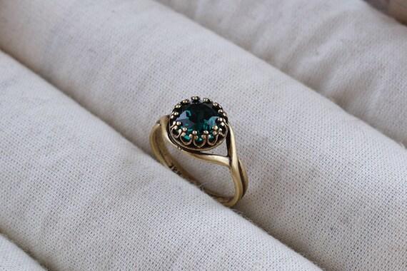 030727b55 Emerald green ring Emerald Swarovski crystal ring Green | Etsy