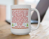 Clark Griswold Christmas Rant Speech Coffee Mug Cup 11 or 15 oz National Lampoon 39 s Vacation, Hallelujah, Holy Shit, Where 39 s the Tylenol