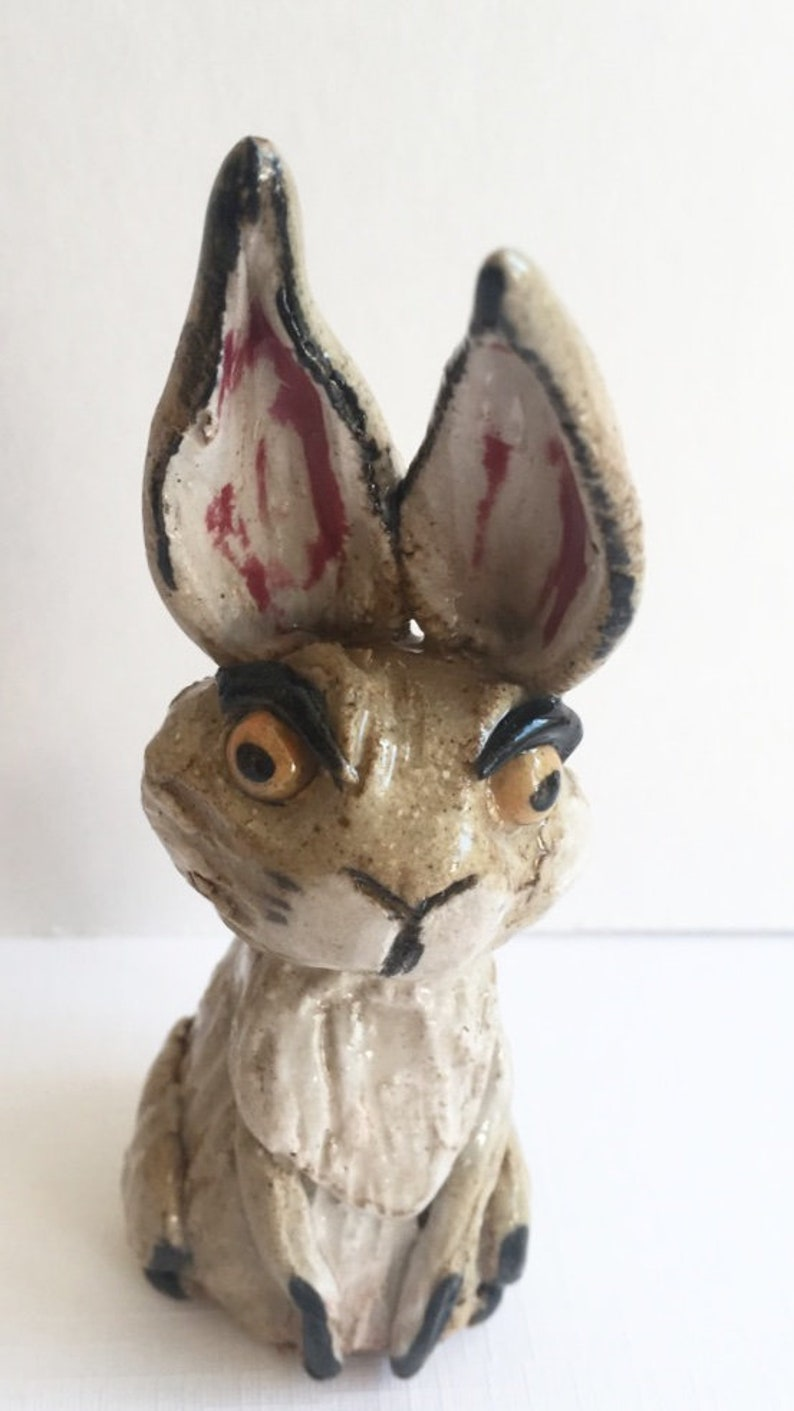 Ceramic hare sculpture image 0