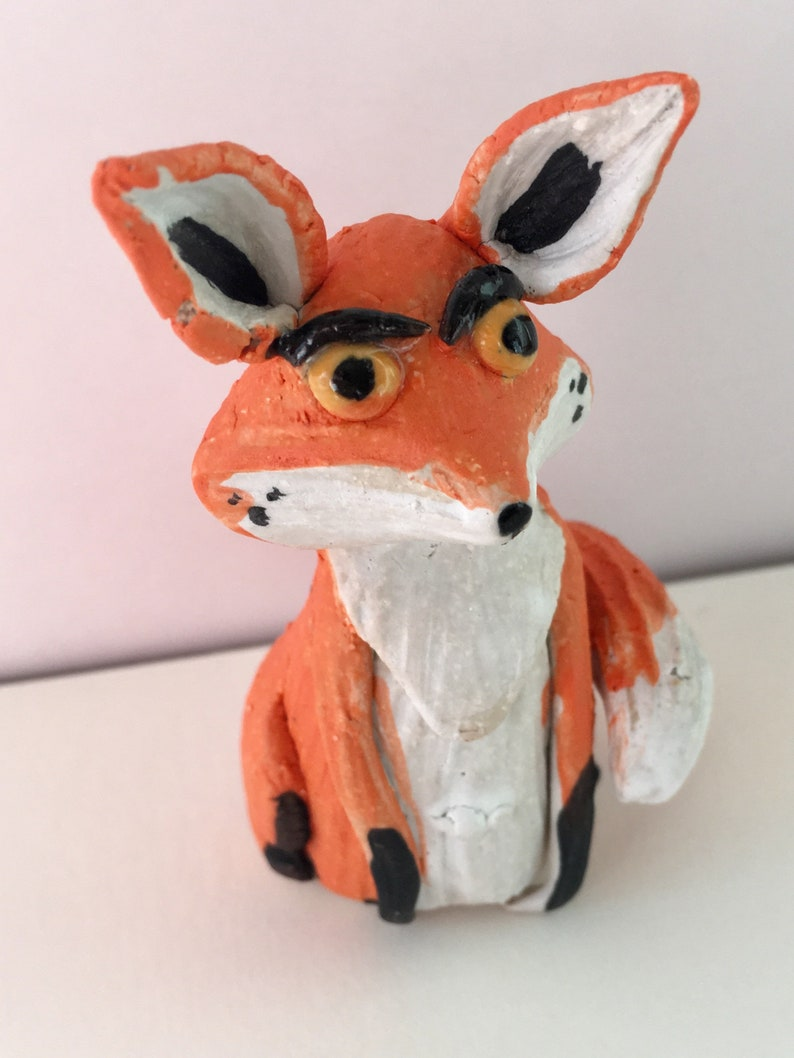 Mr fox Miniature fox sculpture image 0