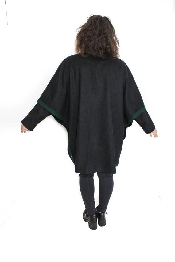 Vintage Cape coat , Loden cape coat, Austrian ponc