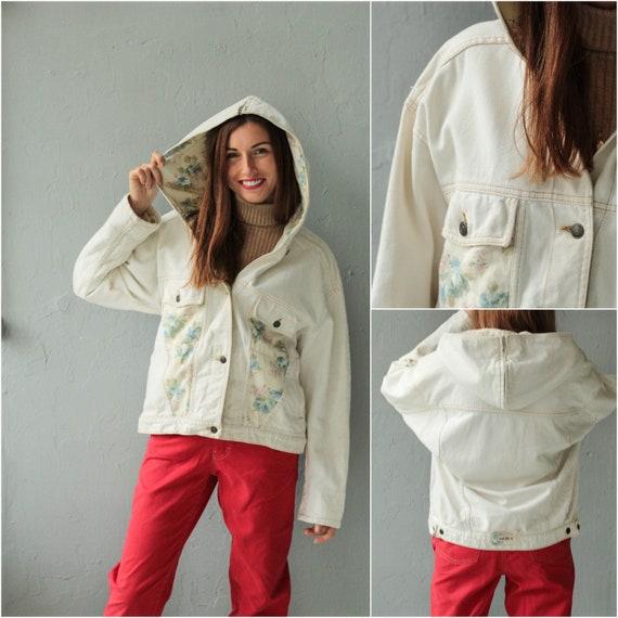 Hooded Denim jacket, Jean jacket , Light Denim jac