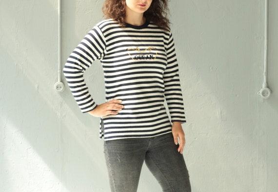 Striped sweater Sailor jumper Long sleeve knitwear Knit  d31079407