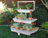 LOCAL DELIVERY ONLY - French Inspired 3 Tiered Plant Stand