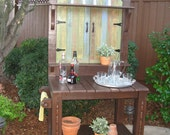 LOCAL DELIVERY ONLY- Potting Bench  with Painted Gate Front