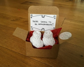 Pregnancy Announcement - Pregnancy Reveal To Grandparent- Baby Reveal To Family - Announcement Box- Pregnancy Reveal - Baby Announcement