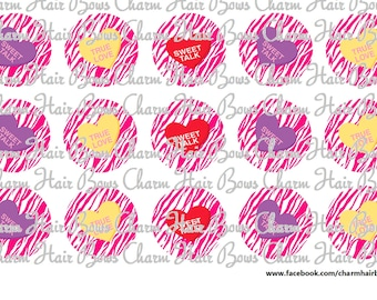 Valentines day candy Bottle cap images