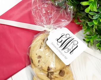 Monogram Tags, Customized Monogrammed Wedding Tags, Wedding Favor Tags  (ST-155)