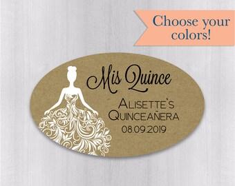 Quincea/ñera Labels #027-SS Mis Quince Stickers Multicolor Labels//Stickers