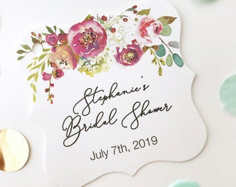 penelope personalized bridal shower tags floral shower hang tags baby shower tags fs 379 015