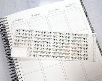 Foiled Header Planner Stickers Confetti Dot Foil Color On Clear Transparent Stickers #909-009-003-CF Divider Stickers for ECLP