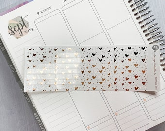 Divider Stickers for ECLP Arrow Chevron Foil Color On Clear Transparent Stickers #909-014-003-CF Foiled Header Planner Stickers