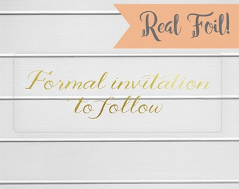 Invitation to follow etsy more colors gold or color foil formal invitation to follow stopboris Images