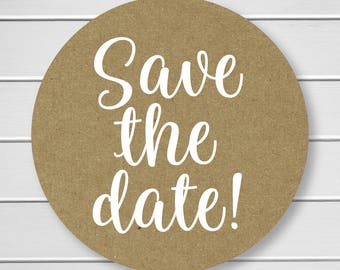 save the date stickers initials sticker save the date or etsy
