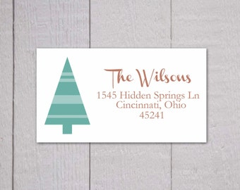 Christmas Return Address Stickers, Christmas Return Address Labels, Return Address Stickers (#314-L)