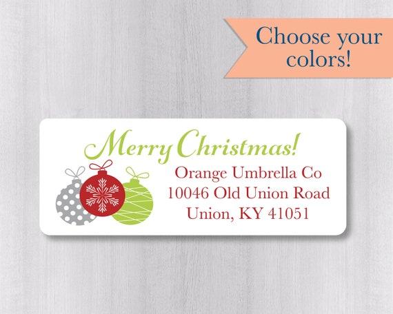 christmas return address labels merry christmas return etsy