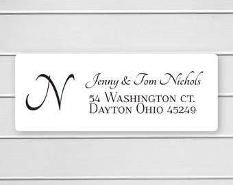 Monogram Return Address Labels, Return Address Stickers, Formal Address Stickers (#310)
