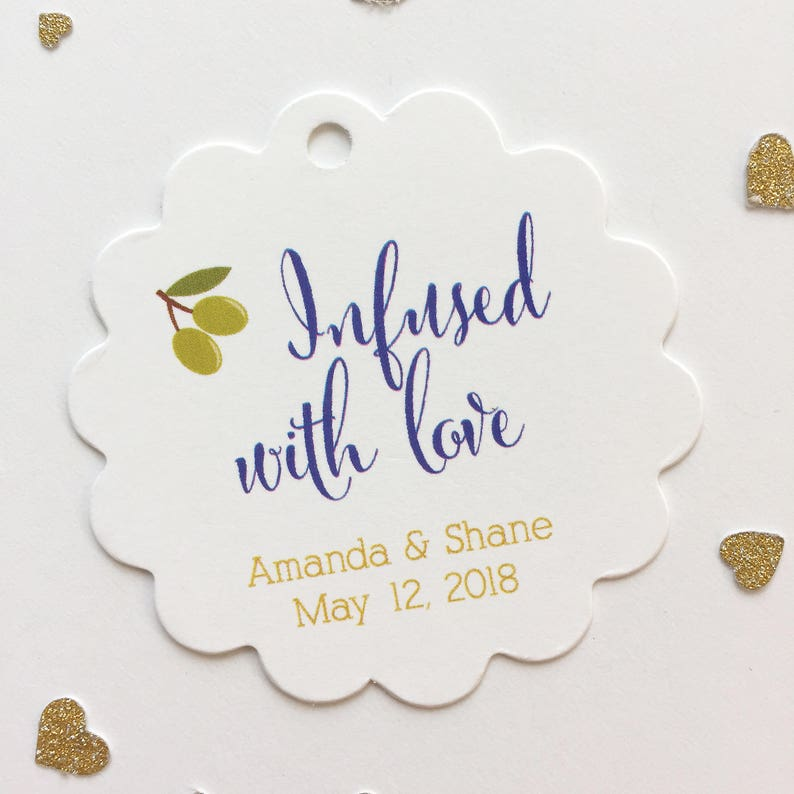 SC-083 Infused Love Wedding Hang Tags Infused With Love Tags Wedding Favor Tags