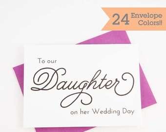 To Our Daughter Card, Our Daughters Wedding Day Wedding Cards (WC011-PL)